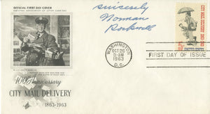 "Norman Rockwell - ""National Association of Letter Carriers"" Signed First Day Cover - 1963"