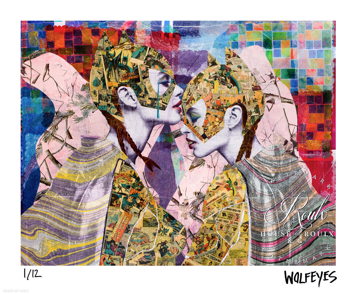 "WOLFEYES ""With Friends Like These"" - Archival Print, Limited Edition of 12 - 14 x 17"""