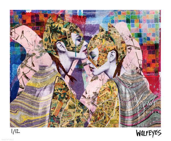 """With Friends Like These"" by WOLFEYES - Limited Edition, Archival Print - 14 x 17"""