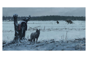 """1863 - Someone to Blame"" by Jakub 'Mr. Werewolf' Rozalski - Fine Art Print"