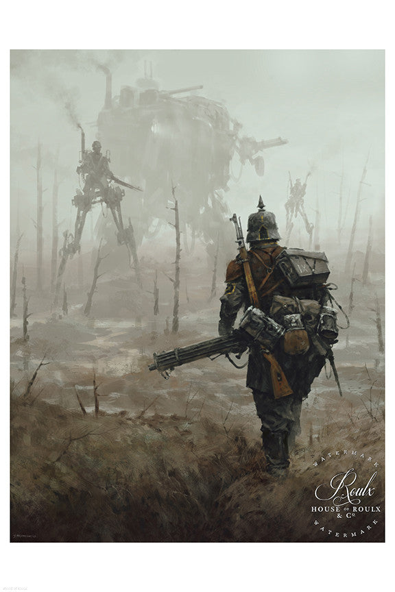 """1920 - No Man's Land"" by Jakub 'Mr. Werewolf' Rozalski - Fine Art Print"