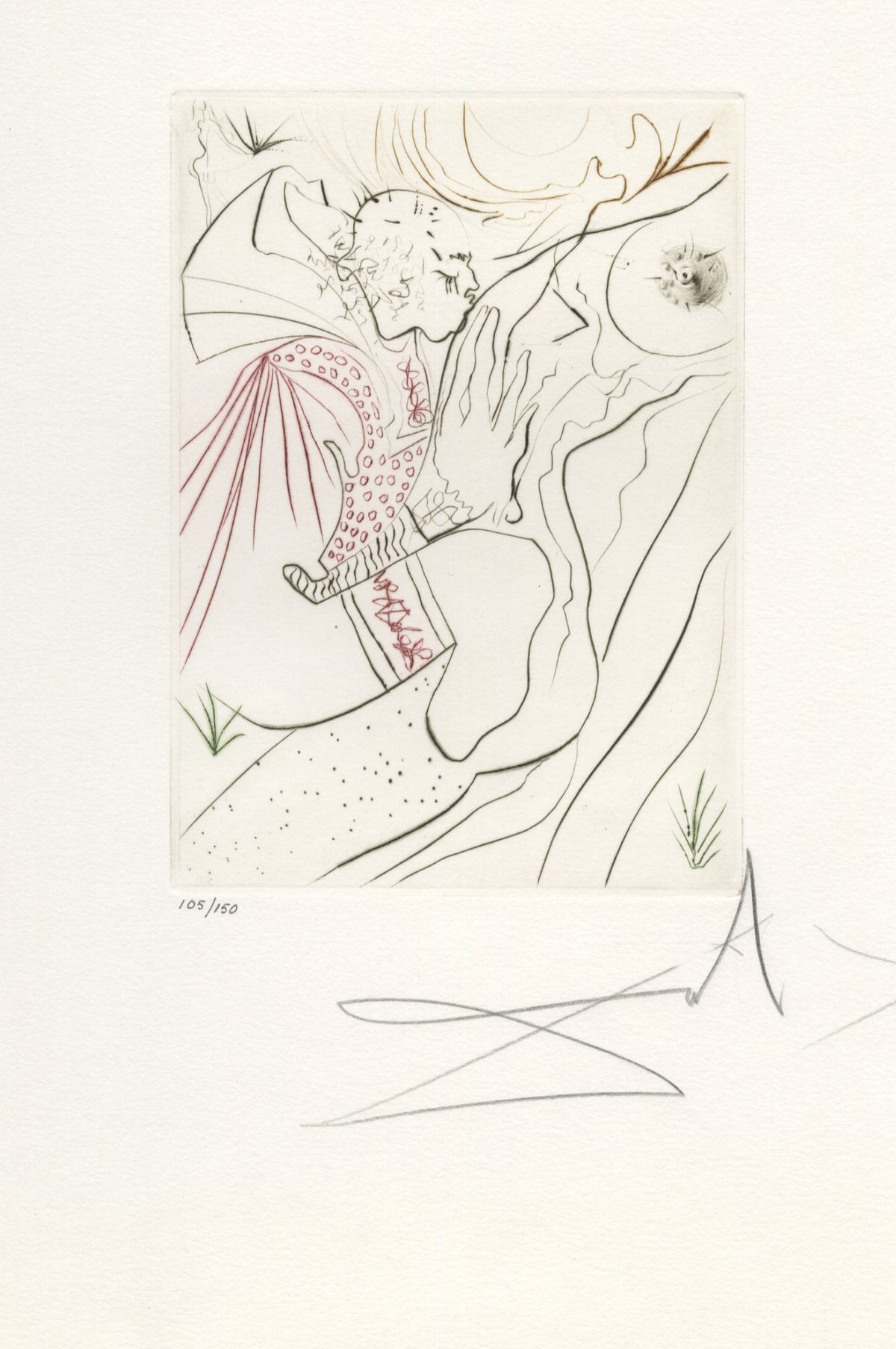 Salvador Dalí - Signed 1972 Limited Edition Engraving - 12.5 x 17.75""