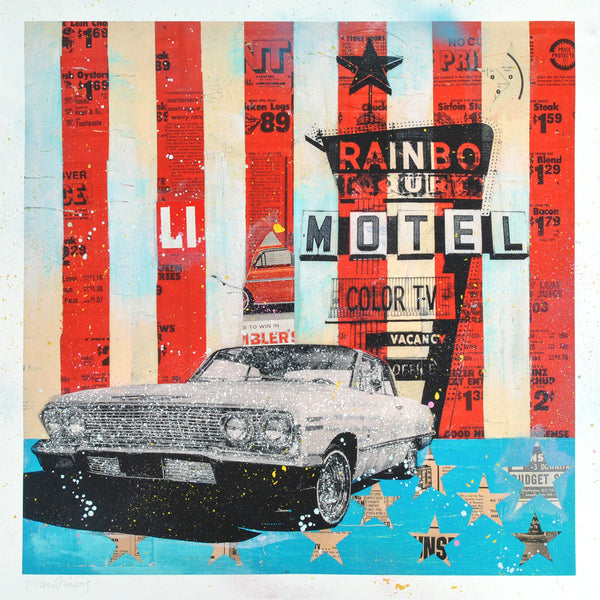 """Rainbo Motel"" by Robert Mars - Hand-Embellished Unique Print #2/2"