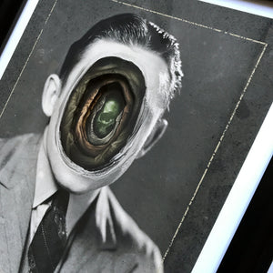 "Alex Eckman-Lawn ""Tunnel VII"" - Hand-Cut Paper Collage in Frame - 16 x 19 x 1.75"""