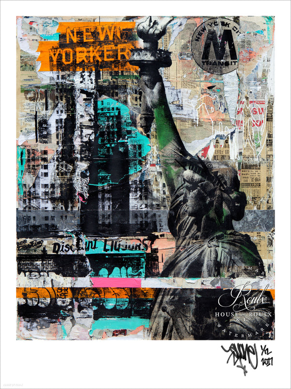 """New Yorker"" by AVone - Limited Edition, Archival Print"