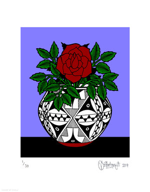 "Mike Giant ""Acoma Pot II"" - Archival Print, Limited Edition of 30 - 11 x 14"""