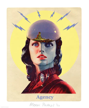 """Agency"" by Moon Patrol - Limited Edition, Archival Print - 14 x 17"""