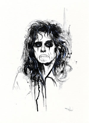 "Therése Rosier ""Alice Cooper"" - Original Watercolor Painting"
