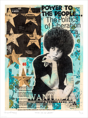"""Power to the People"" - Angela Davis by Robert Mars - Limited Edition, Archival Print"