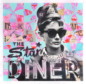 """Audrey's Stars Diner"" by Robert Mars - Hand-Embellished Unique Print"