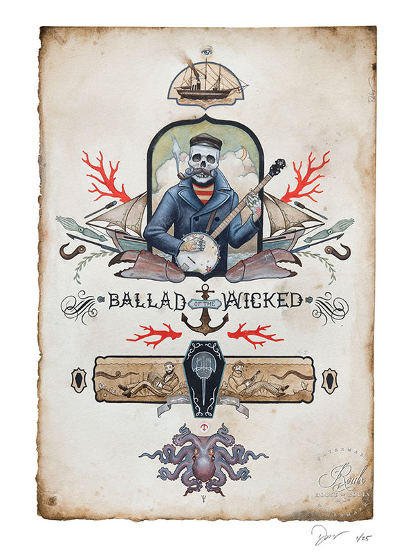"""Ballad of the Wicked"" by Derek Nobbs - Limited Edition, Archival Print"
