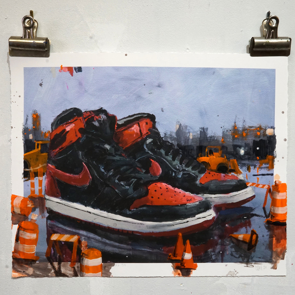 "Adam J. O'Day ""Banned: Cones"" - Hand-Embellished Variant - 16 x 20"""