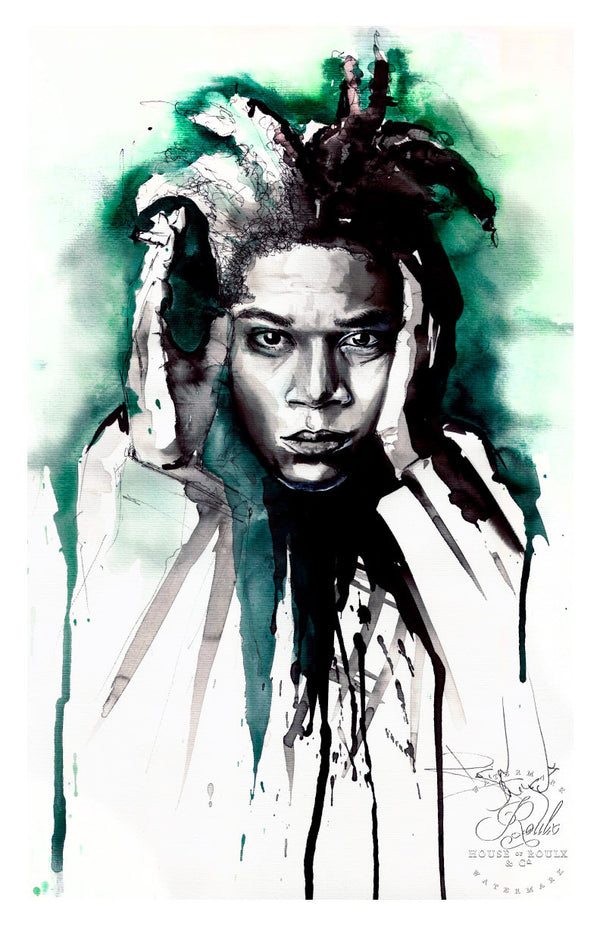 """Jean-Michel Basquiat"" by Therése Rosier - Limited Edition, Fine Art Print"