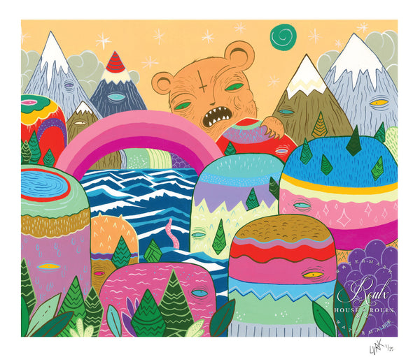 """Bear Mountain"" by LURK - Limited Edition, Archival Print"