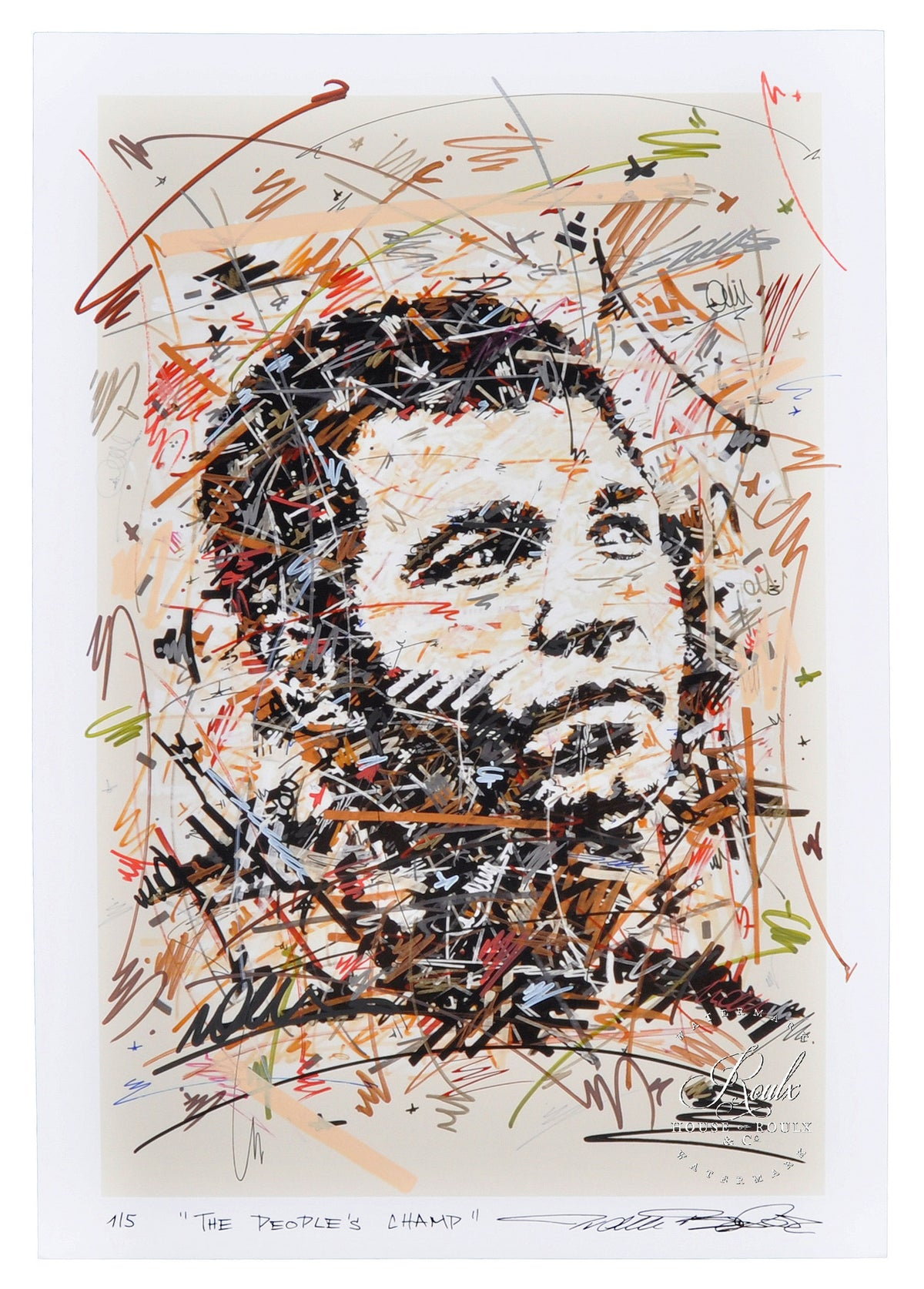 "Ivan Beslic ""Ali - The People's Champ"" - Hand Embellished, Limited Edition Archival Print"