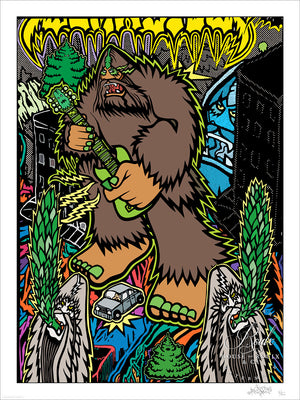 """Guitarmageddon!"" by Bigfoot - Limited Edition, Archival Print"