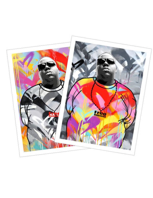 "Free Humanity ""Notorious B.I.G."" - 2 x Vinyl Stickers"