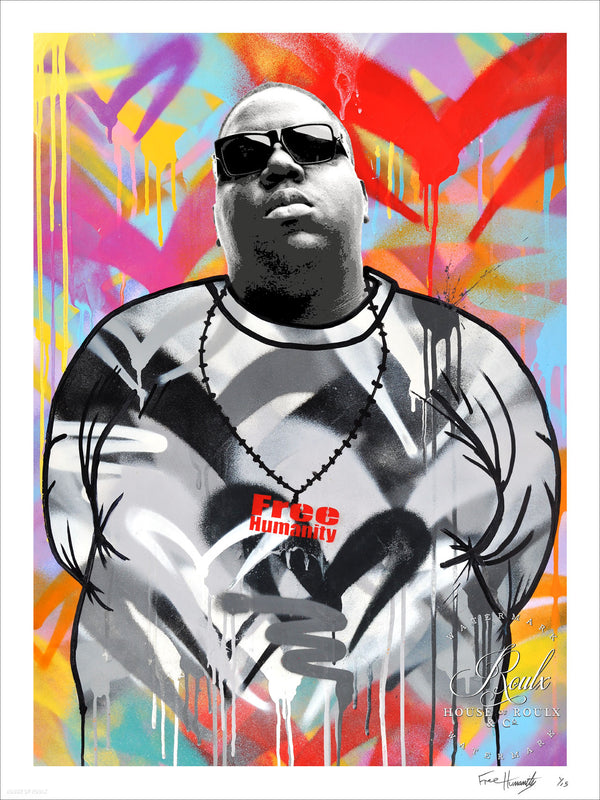 """Notorious B.I.G."" by Free Humanity - Limited Edition, Archival Print - 18 x 24"""