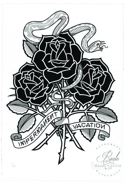 Quot Black Roses Impermanent Vacation Quot By Mike Giant
