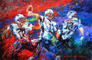 "Tom Brady ""The Release"" (by Jace McTier) - Signed by Brady & McTier, Original Painting - 24 x 36"""