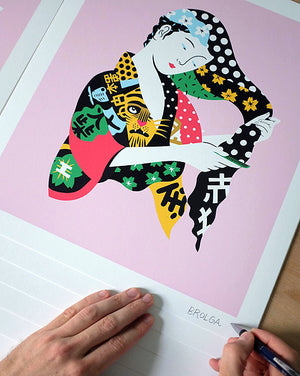 """Pop Geisha"" by Brolga - Limited Edition, Archival Print - 15 x 17"