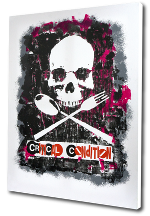 "Al Diaz and Dave Navarro ""Critical Condition"" - 4 Color Screen Print On Canvas, 1 of 3 - 19 x 25"""
