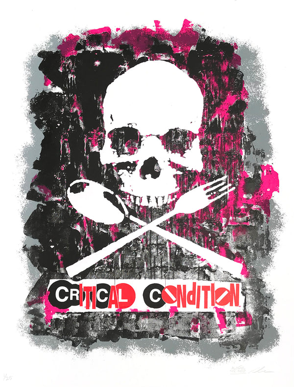 "Al Diaz and Dave Navarro ""Critical Condition"" - 4 Color Screen Print, Limited Edition of 25 - 19 x 25"""
