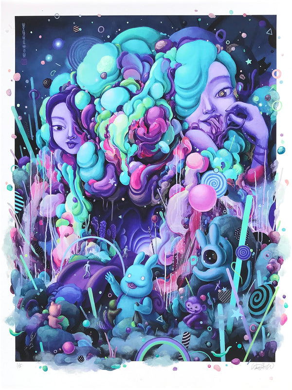 "Wingchow ""Candy Eaters Den"" - Hand-Embellished Variant, 1 of 5 - 18 x 24"""
