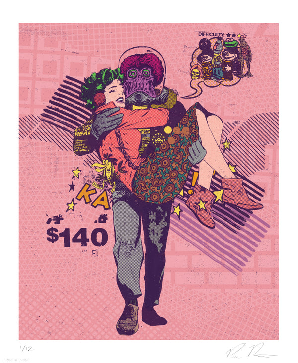 """Wired Romance"" by Paul Rentler - Limited Edition, Archival Print - 14 x 17"""
