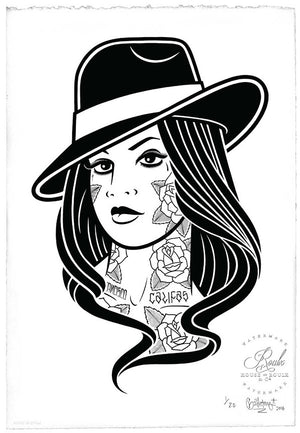 """Chola"" by Mike Giant - Limited Edition, Archival Print - 13 x 19"
