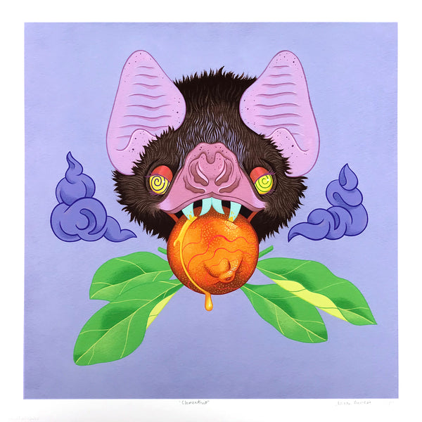 """Clementino"" by Allison Bamcat - Hand-Embellished Unique Variant, #2/11 - 17 x 17"""