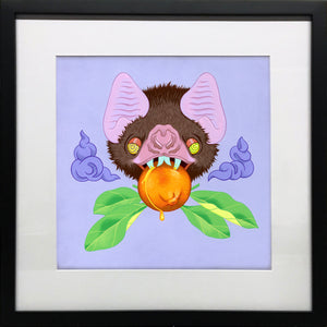 """Clementino"" by Allison Bamcat - Original Painting in Gallery Frame - 16 x 16"""