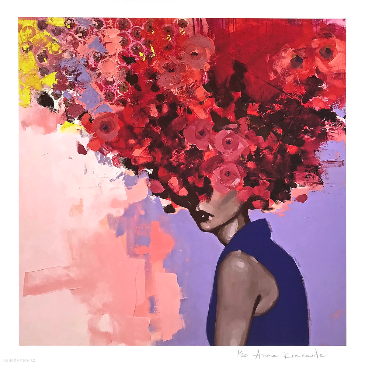 "Anna Kincaide ""The Color of Love"" - Archival Print, Limited Edition of 20 - 18 x 18"""