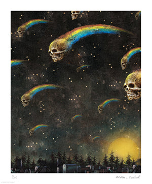 """Night of the Comets"" by Moon Patrol - Archival Print, Limited Edition of 25 - 14 x 17"""