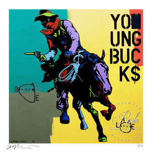 """Young Bucks"" by Johnny Romeo - Limited Edition, Archival Print"
