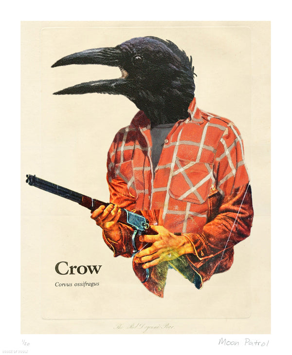 "Moon Patrol ""Crow"" - Archival Print, Limited Edition of 20 - 14 x 17"""