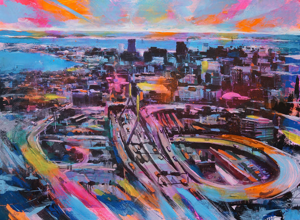 "Adam J. O'Day ""Zakim"" - Hand-Embellished Archival Print, Edition of 5 - 18 x 24"""