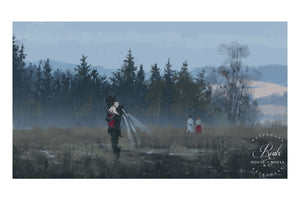 """Dark Fairy Godmother"" by Jakub 'Mr. Werewolf' Rozalski - Fine Art Print"