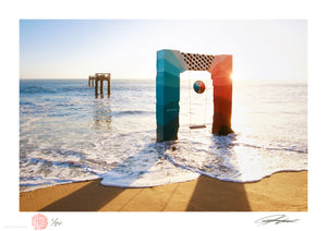 "Jeremiah Kille ""North Coast Pier Project II"" - Archival Print, Limited Edition of 20 - 12 x 17"""