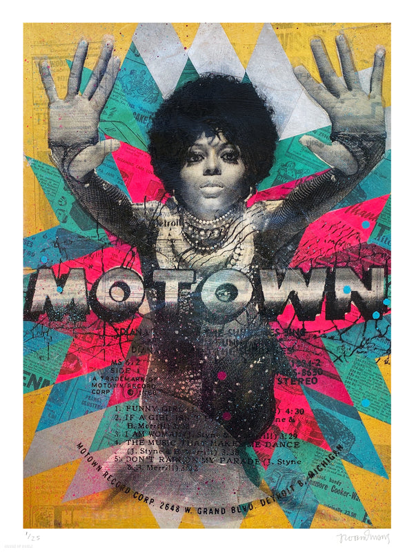 "Robert Mars ""Motown"" - Archival Print, Edition of 25 - 18 x 24"""