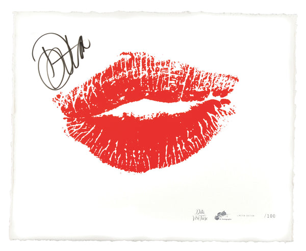 "Dita Von Teese ""Sealed with a Kiss"" - Signed Silkscreened Fine Art Print"