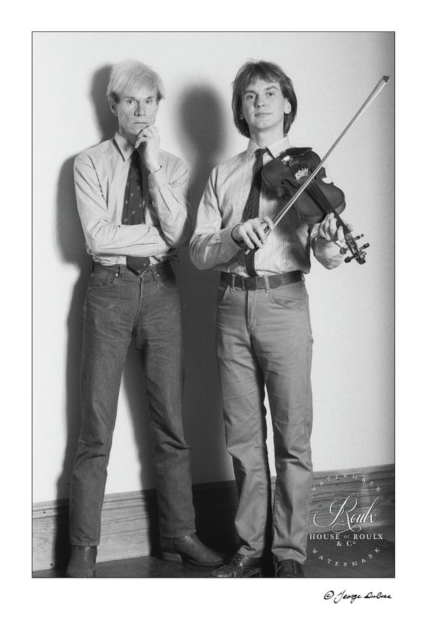 Andy Warhol & Walter Steding (by George DuBose) - Limited Edition, Archival Print
