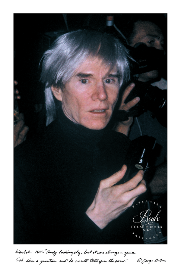 Andy Warhol (by George DuBose) - Limited Edition, Archival Print