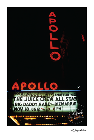 Juice Crew All-Stars, Apollo Theater, 1988 (by George DuBose) - Limited Edition, Archival Print