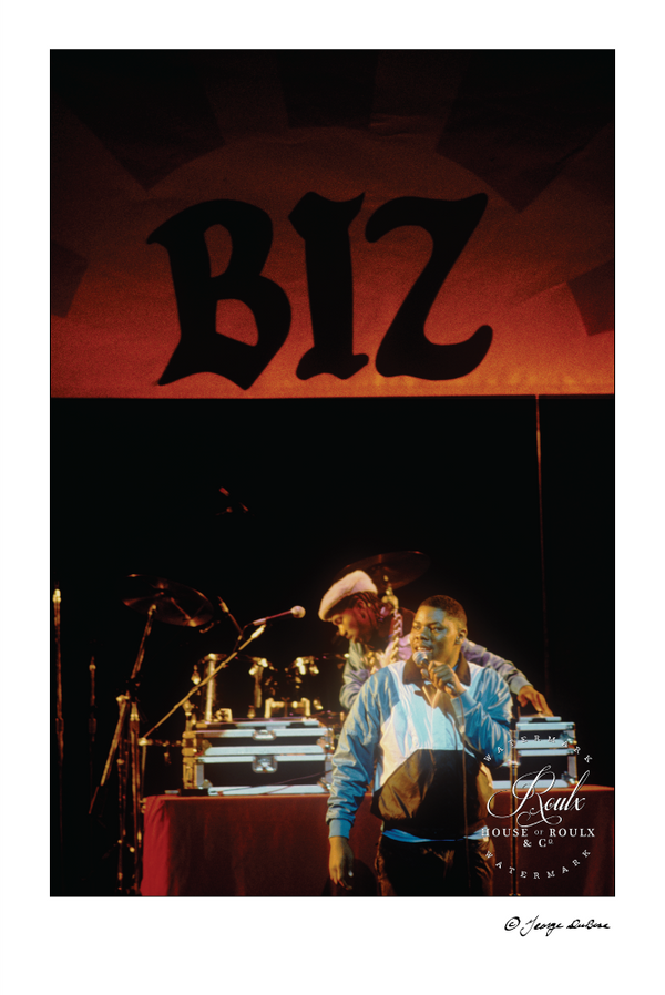 Biz Markie, Apollo Theater, 1988 (by George DuBose) - Limited Edition, Archival Print