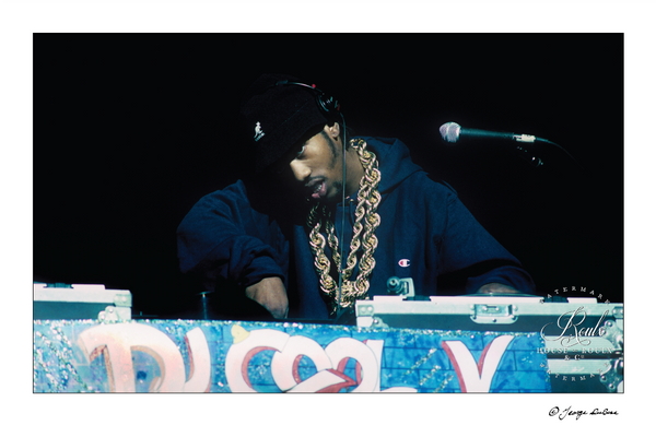 DJ Cool V, Apollo Theater, 1988 (by George DuBose) - Limited Edition, Archival Print