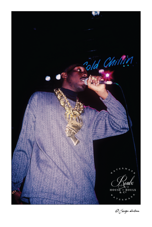 Big Daddy Kane, Apollo Theater, 1988 (by George DuBose) - Limited Edition, Archival Print