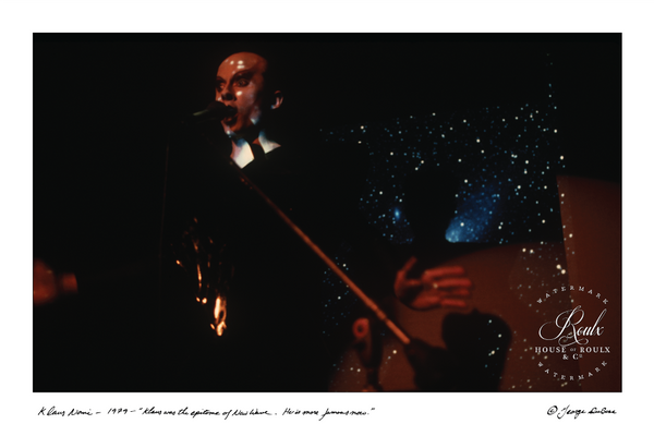 Klaus Nomi (by George DuBose) - Limited Edition, Archival Print