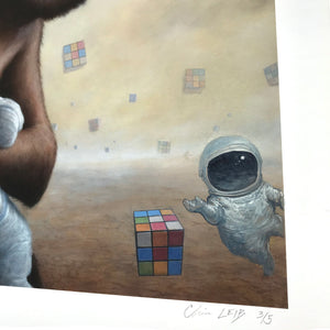 "Chris Leib ""Mind Field"" - Hand-Embellished Variant, #3/5 - 14 x 17"""