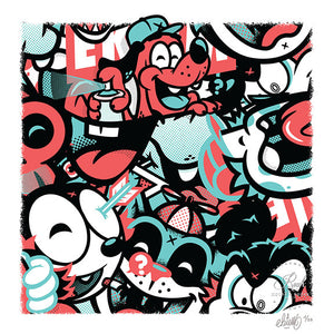 """C'est la Jungle"" by Ekiem - Limited Edition, Archival Print"